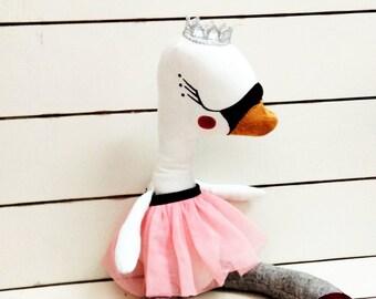 Swan Princess -handmade fabric doll- cloth doll- OOAK