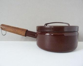 Vintage saucepan Seppo Mallat for Finel, Arabia Finland.
