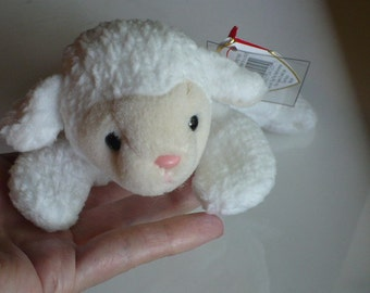 Lamb Stuffed Animal Plush Toy Beanie Babies Baby Shower Gift Farm Animal