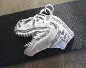 Dinosaur Necklace, Dinosaur Pendant, Dinosaur Party, Silver Pendant, Metal Clay Pendant, Dinosaur Jewelry, Handmade Pendant