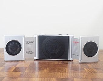 Sanyo MSP 5 Vintage Speakers Portable Mini Speaker Set