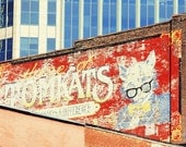 Nashville print industrial wall art vintage Nashville sign photography Tennessee art city photography Nashville wall art urban home decor