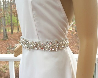 Bridal Belt Sash, Wedding Belt Sash, Crystal Belt Sash, Rhinestone Belt Sash, Prom Belt Sash, Sparkling Belt Sash