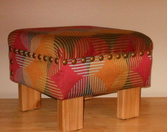 """One of a Kind Rustic """"Louise Stool"""" Footstool or Ottoman"""