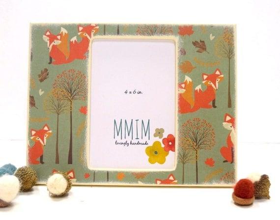 autumn fox picture frame 4 x 6 photo framewoodland table. Black Bedroom Furniture Sets. Home Design Ideas