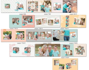 Family Album template for Photographers - 1034FA