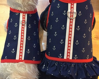 Anchors Away  Small Dog Harness Made in USA