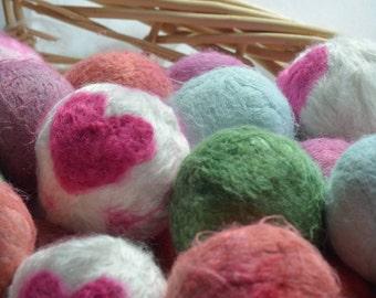 RE-FELTING of BAMBOO Dryer Balls--Vegan--1 Ball