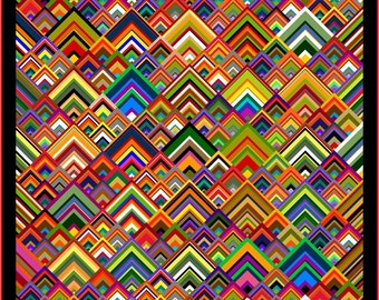 """NEW - PINNACLES - 111"""" x 111"""" King or 93"""" x 93"""" Queen - Quilt-Addicts Pre-cut Quilt Kit or Finished Quilt"""