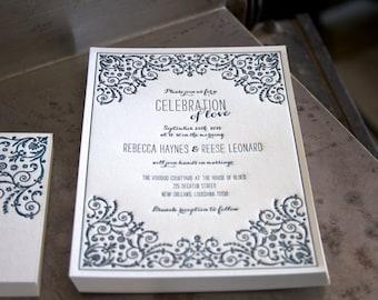Handmade new orleans wedding invitations Etsy