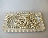 Vintage Mercury Glass Beads, Mercury Glass bead garland, silver