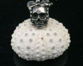 Made to Order Female Steampunk Skull Big Hole Bead for European Bracelets