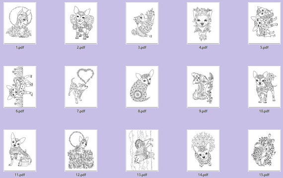 Art Of Chihuahua Coloring Book Volume No 1 Physical By