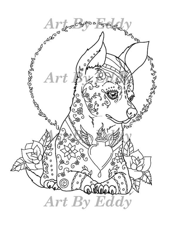 of chihuahua single coloring page