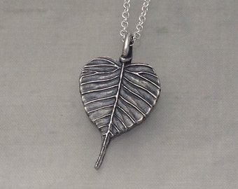 Items Similar To Bodhi Leaf Earrings Sterling Small