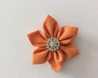 Orange Flower Dog Collar- Ready to Ship