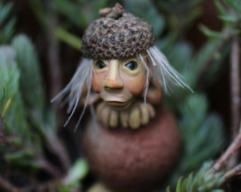 OOAK forest creature critter pixie figurine art doll