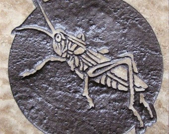 4x4 Grasshopper Tile - Etched Travertine Stone Decorative Tile