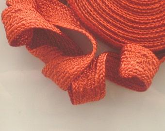 Fiesta orange Moroccan trim, art silk , textured trim,  5metres
