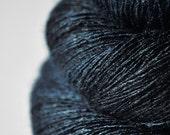 Dark storm  - Tussah Silk Lace Yarn