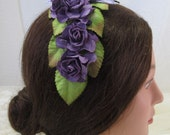 Pretty Plum Headdress, Civil War Appropriate--Affordable Elegance