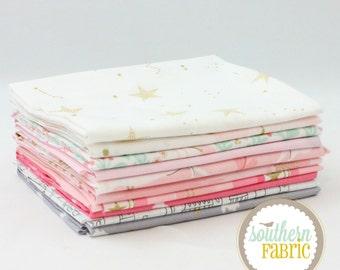 "Magic - Pink - Fat Eighth  Bundle - 10 - 9""x21"" Cuts - Sarah Jane - Michael Miller Quilt Fabric"