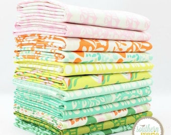 "Clementine - Fat Eighth Bundle - 12 - 9""x21"" Cuts - Heather Bailey - Free Spirit Quilt Fabric"