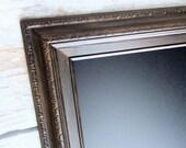"KITCHEN MAGNETIC CHALKBOARD Pub Blackboard Organizer LaRGE Chalkboard 41""x29"" Rustic Home Decor Home Office Oil Rubbed Bronze Framed"