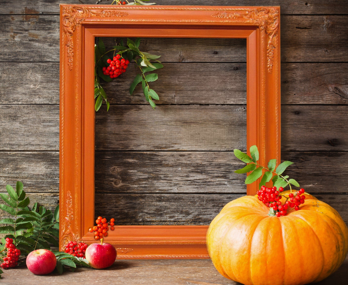 Fall decor orange picture frame 20x24 portrait zoom jeuxipadfo Choice Image