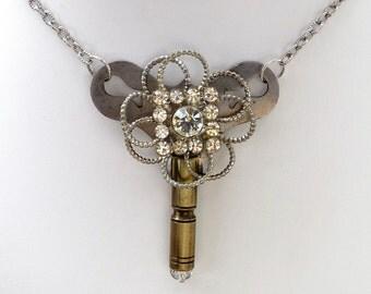Key to My Secrets Vintage Assemblage Key Necklace