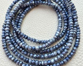 Brand New, Full 14 Inch Strand,Superb-Finest Quality Mystic Grey MOONSTONE Faceted Rondelles, 4-4.25mm size,Great Item