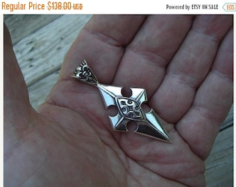 ON SALE Large medieval cross in sterling silver
