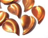 Copper Pieces Enameling Supplies Ten (10) Hearts Stamping Blanks Engravable COPPER 18 Gauge Enamel Jewelry Valentine Wedding Supplies (J179)