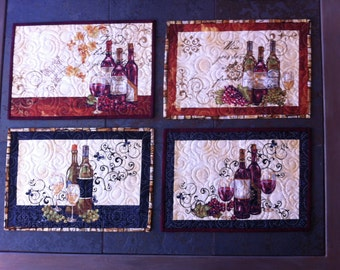 Wine with dinner placemats