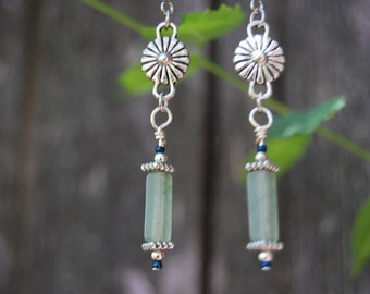 Jade Daisy Earrings