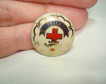 1950s Cross and Crown Enrollment Church Badge Pin.