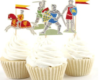 Knight Cupcake Toppers - set of 24
