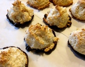 Coconut Macaroons, Homemade Cookies, Christmas, Chocolate Dipped, Coconut Cookies, Holiday, Hostess, Birthday, Edible Gift, Corporate Gift