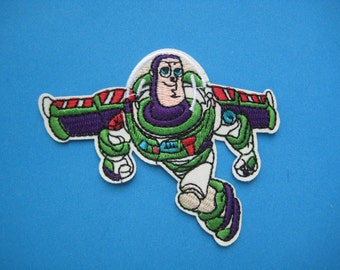 SALE~ Iron-on Embroidered Patch Buzz Lightyear 3.5 inch