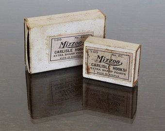 Two Boxes of Vintage Mizzoo Made in Norway Fish Hooks