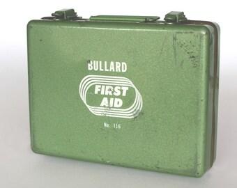 Vintage Bullard First Aid Kit with Supplies