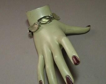 Vintage Florenza Leaf Bracelet