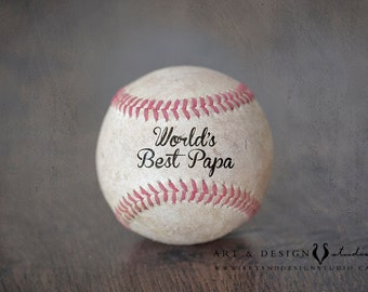 Papa Gift, Man Personalized Gift, Custom Gifts for Him, Grandfather Gift, Worlds Best Papa, Granddad Gifts, Sport Art, Baseball Wall Art