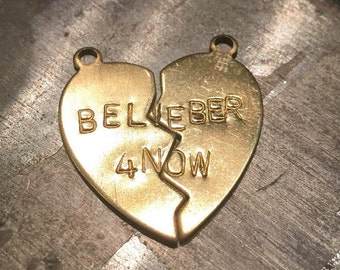 Are you a Belieber? Well, for now - Justin Bieber Engraved Charms - with Option for Necklace