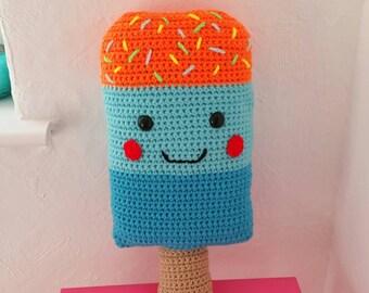 Crochet Popsicle Pillow, Icecream pillow, Icecream cushion, Crochet Lollipop, Decorative Pillow, Decorative Cushion, Popsicle, Lollipop,