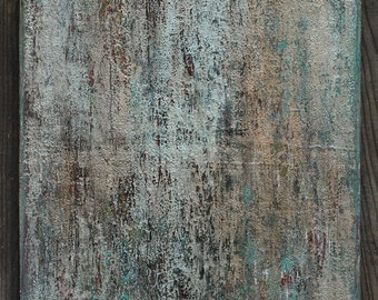 Gray Abstract Painting, Minimalist Canvas Wall Art, Neutral Concrete Texture Painting 18 x 24, Contemporary Industrial