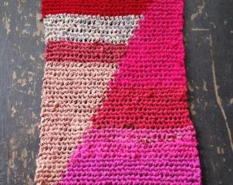 Pink Gap Tapstry Crochet Rug