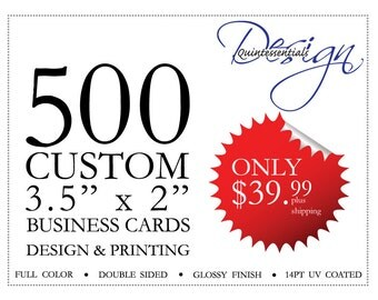 DISCOUNTED - 500 business cards. Printed 500 customized Business Cards