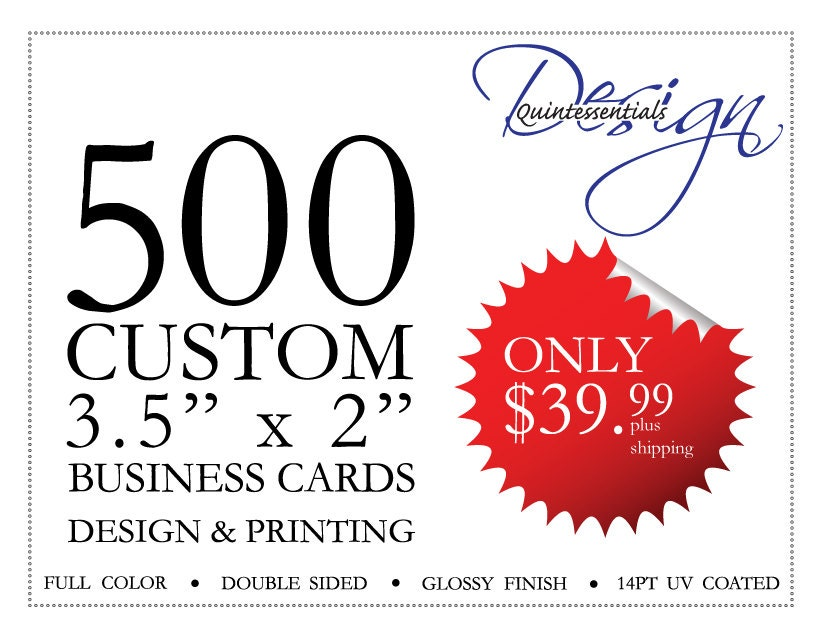 DISCOUNTED 500 business cards Printed 500 customized