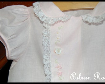 NwT New Baby Girl Newborn Girl Heirloom Daygown Day Gown Layette Coming Home Outfit NB Pink